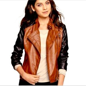 Dollhouse faux leather brown and black jacket